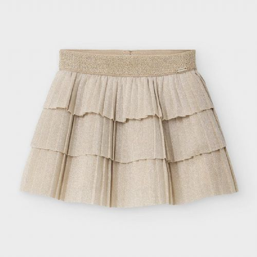 Chanpagne Layered Pleated Skirt 6 Months